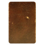 Vintage Brown Leather faux Vinyl Magnets