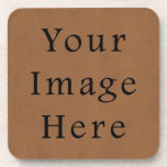 "Vintage Brown Leather Parchment Paper Background Coaster<br><div class=""desc"">Custom Template For Hard Plastic Cork Coasters - Set of 6 - Customized Coaster. Personalize with your own name, pattern, design, quote, monogram, or photograph. Use our cool templates, artwork, photos, graphics, and illustrations, then add names, text, quotes, and monograms to create your own coaster. Click the &quot;Customize it!&quot; button...</div>"