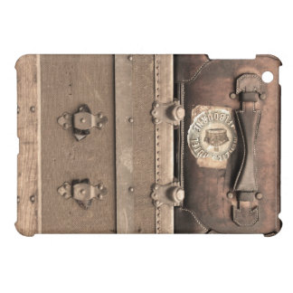 Vintage Brown Luggage and Steamer Trunk iPad Mini Cover