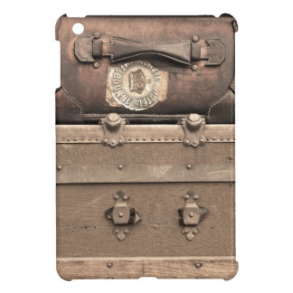 Vintage Brown Luggage and Steamer Trunk iPad Mini Covers