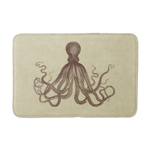 Octopus Bath Rug Uniquely Modern Rugs