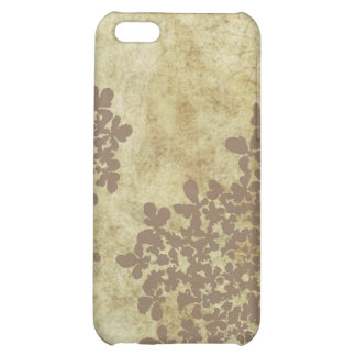 Vintage Brown Queen Ann's Lace iPhone 5C Cases