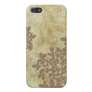 Vintage Brown Queen Ann's Lace iPhone SE/5/5s Cover