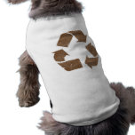 Vintage Brown Recycle Sign Doggie Tee Shirt