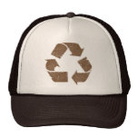 Vintage Brown Recycle Sign Mesh Hats