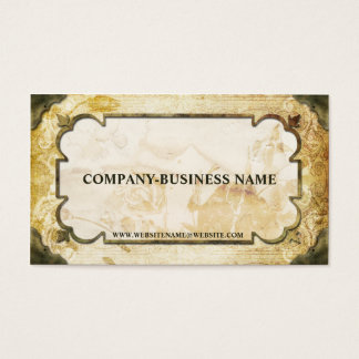 Vintage Brown & Tan Flourish Paper Business Cards