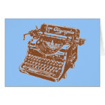 Vintage Brown Typewriter Greeting Card
