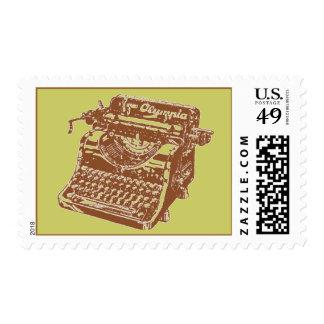 Vintage Brown Typewriter Postage