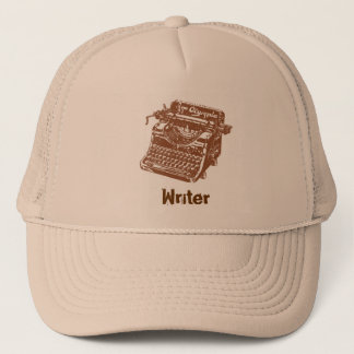 Vintage Brown Typewriter Trucker Hat