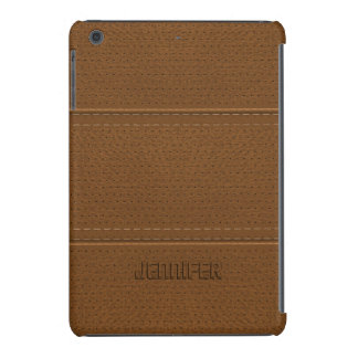 Vintage Brown Worn-Out Faux Leather Look iPad Mini Case