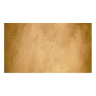 Vintage Brown Yellow Paper Parchment Background Double-Sided Standard Business Cards (Pack Of 100)
