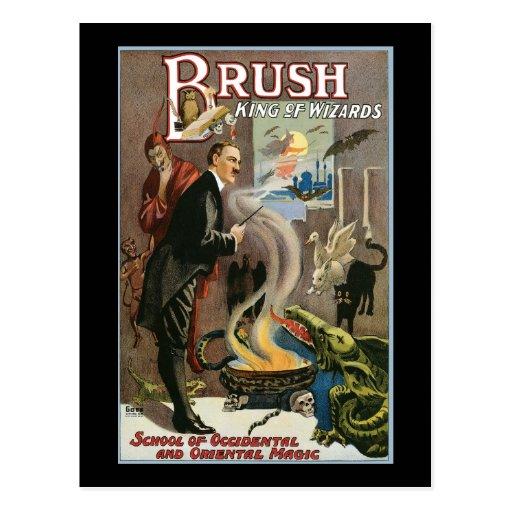 Vintage Brush, King of Wizards 1915 Postcard
