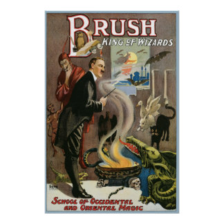 Vintage Brush, King of Wizards 1915 Poster