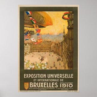 Vintage Brussels Exposition Poster