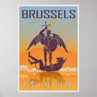Vintage Brussels poster