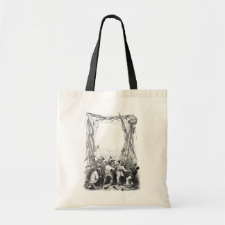 Vintage Buccaneers and a Shipwrecked Pirate Ship Tote Bag