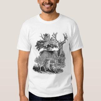 Vintage Buck Illustration T Shirt