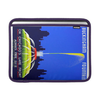 Vintage Buckingham Fountain Chicago WPA Poster MacBook Sleeves