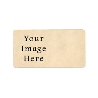 Vintage Buckskin Beige Parchment Paper Background Label