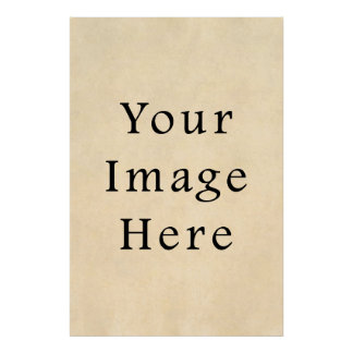 Vintage Buckskin Beige Parchment Paper Background Poster