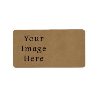 Vintage Buckskin Brown Parchment Paper Background Label