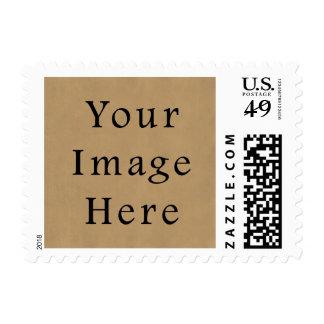Vintage Buckskin Brown Parchment Paper Background Postage