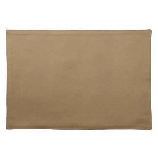 Vintage Buckskin Leather Brown Parchment Template Placemat
