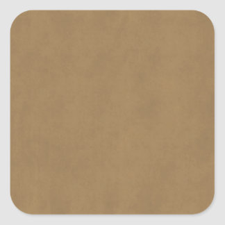 Vintage Buckskin Leather Brown Parchment Template Square Sticker