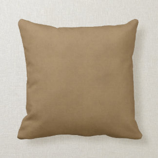 Vintage Buckskin Leather Brown Parchment Template Throw Pillow
