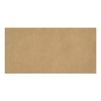 Vintage Buckskin Parchment Tan Brown Antique Paper Photo Card