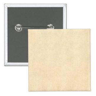 Vintage Buckskin Tan Leather Parchment Template 2 Inch Square Button