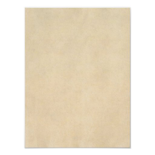 Vintage Buckskin Tan Leather Parchment Template Poster