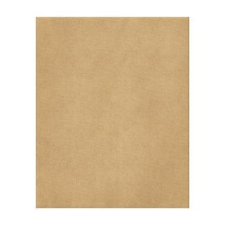 Vintage Buckskin Tan Light Brown Parchment Paper Canvas Print