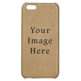 Vintage Buckskin Tan Light Brown Parchment Paper Case For iPhone 5C