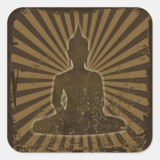 vintage Buda Pegatina Cuadrada