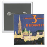 Vintage Budapest 2 Inch Square Button