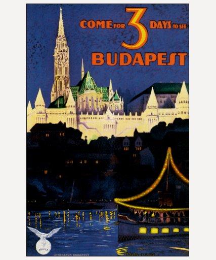 Vintage Budapest Camisetas