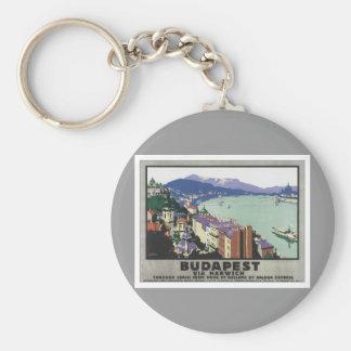 Vintage Budapest Hungary Keychain
