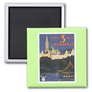 Vintage Budapest Hungary Magnet