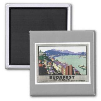 Vintage Budapest Hungary Magnet