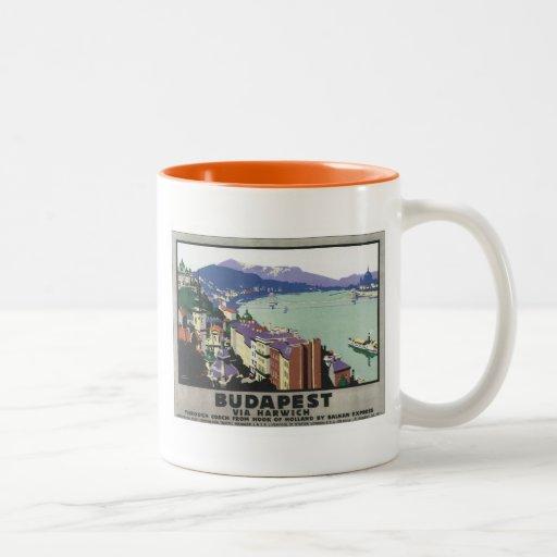 Vintage Budapest Hungary Two-Tone Coffee Mug