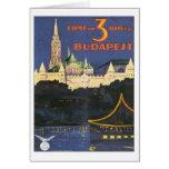 Vintage Budapest Hungría Felicitacion