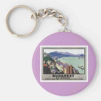 Vintage Budapest Hungría Llavero Redondo Tipo Pin