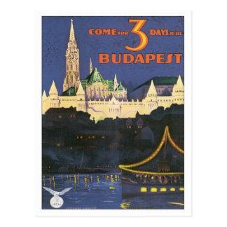 Vintage Budapest Hungría Postales