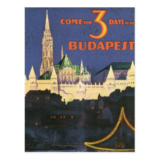 Vintage Budapest Post Cards