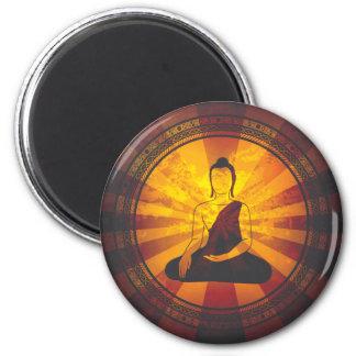Vintage Buddha 2 Inch Round Magnet