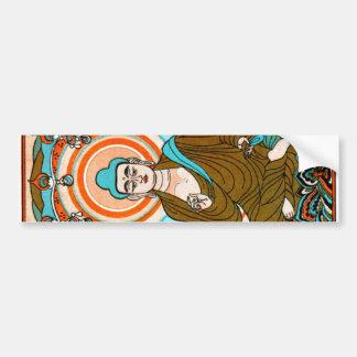 Vintage Buddha Art Bumper Sticker