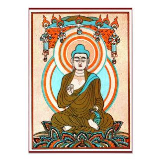 """Vintage Buddha Art Invitations 5"""" X 7"""" Invitation Card"""