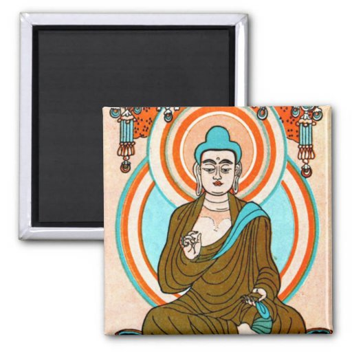 Vintage Buddha Art Magnet