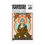 Vintage Buddha Art Postage